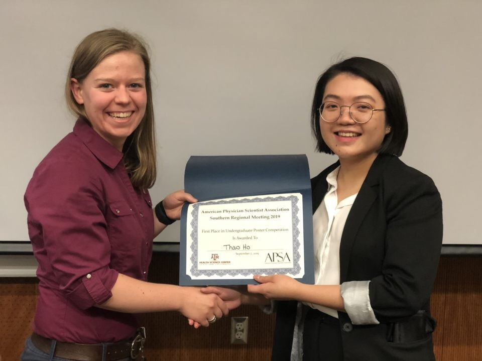 Thao Ho - 1st APSA Award