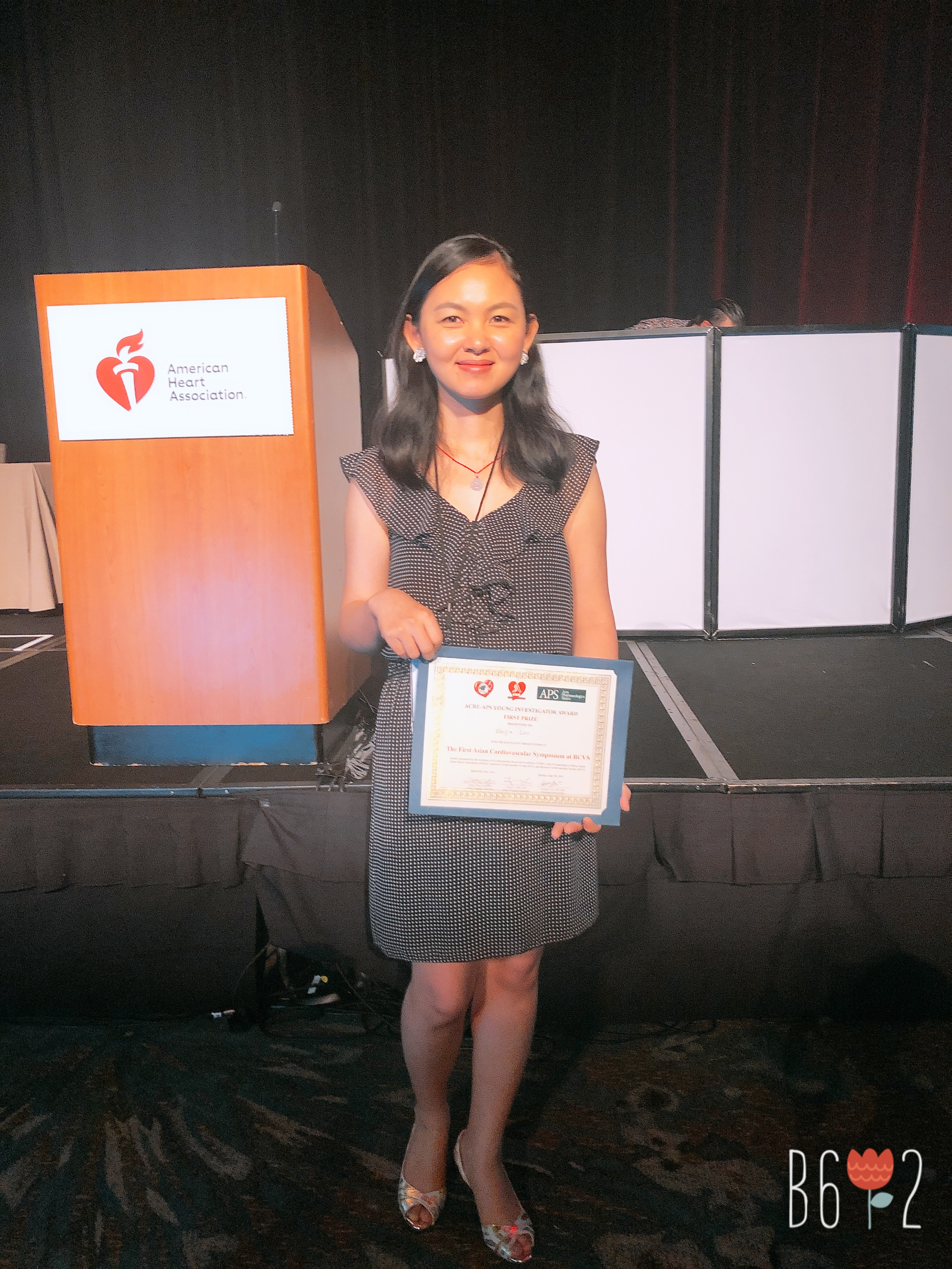 Weijia Luo won 1st place of Young Investigator Award - AHA